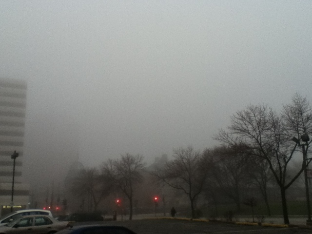 Downtown Milwaukee fog