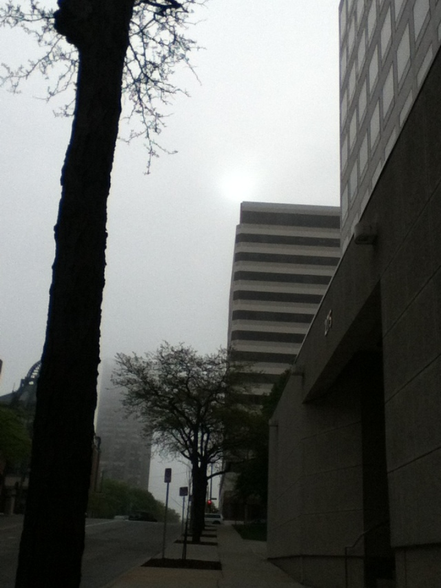 foggy morning sun - May 29, 2013