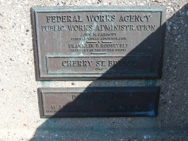 Cherry Street bridge dedication