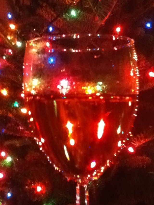 Champagne and Christmas Lights