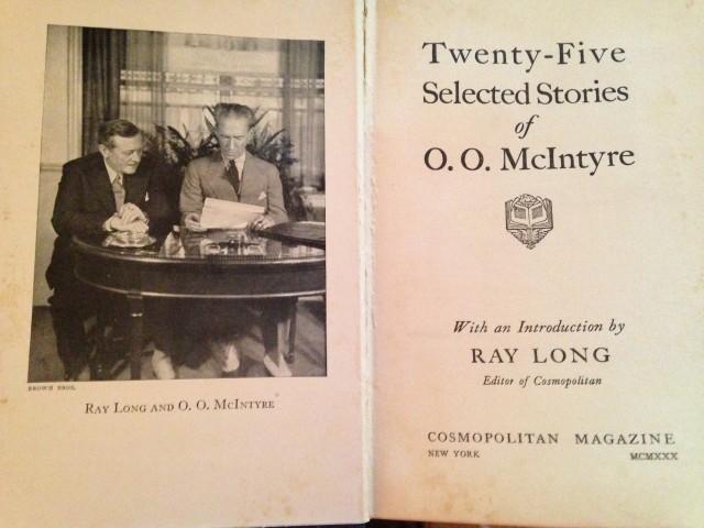 O.O. McIntyre Cosmopolitan collection