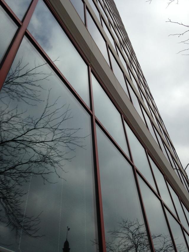 Milwaukee's City Hall reflected