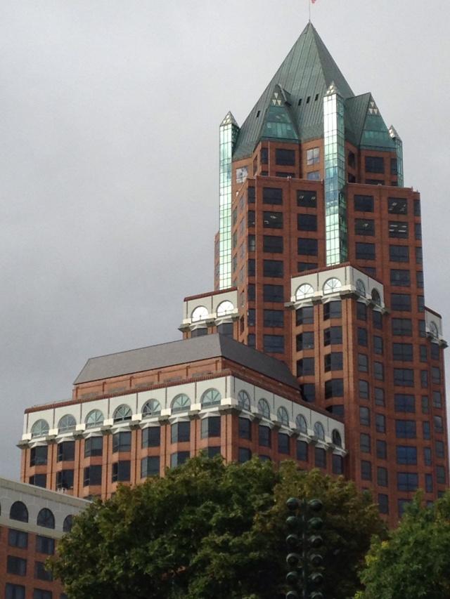 Milwaukee Center with sunlight