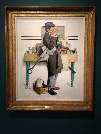 Norman Rockwell's The Bookworm, 1926