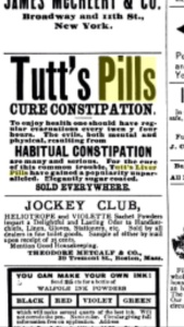 Tutt's Pills Cure Constipation ad