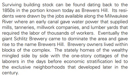 Taken from the City of Milwaukee's Northeast Side Comprehensive Plan, July 21, 2009 (page 30)
