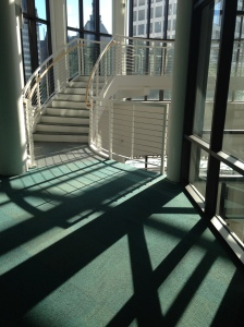 """Grohmann Museum, Steel and Shadow"""