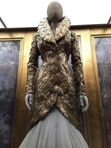 Mannequin wearing Alexander McQueen evening jacket